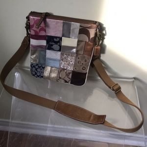 Coach Patchwork Crossbody Leather Signature RETAIL